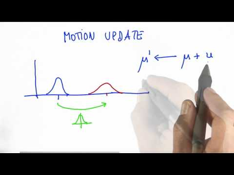 Gaussian Motion - CS373 Unit 2 - Udacity
