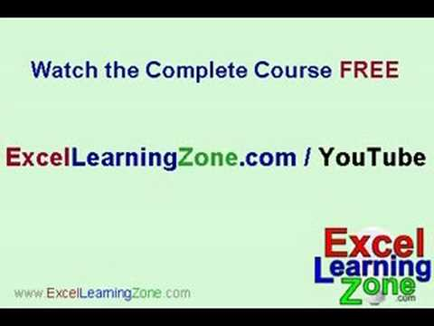 Microsoft Excel 101 part 3