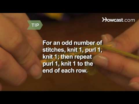 How To Knit Texture Stitch