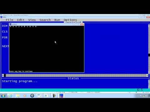 QBasic Tutorial 13 - Random Numbers - QB64 - Randomize