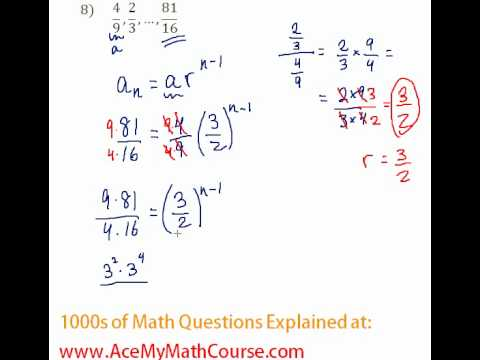 Geometric Sequences - Finding the Number of Terms #8