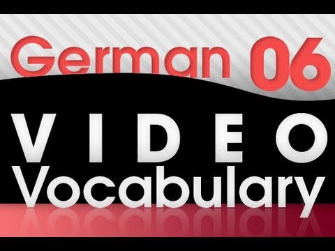 Learn German - Video Vocabulary #6