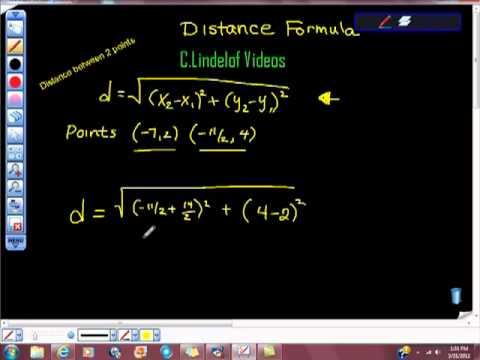 Distance Formula Two Points 13 (Radicals)