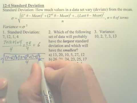 12.4a Standard Deviation  Algebra 2