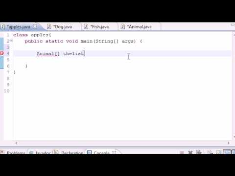 Java Programming Tutorial - 61 - Simple Polymorphic Program