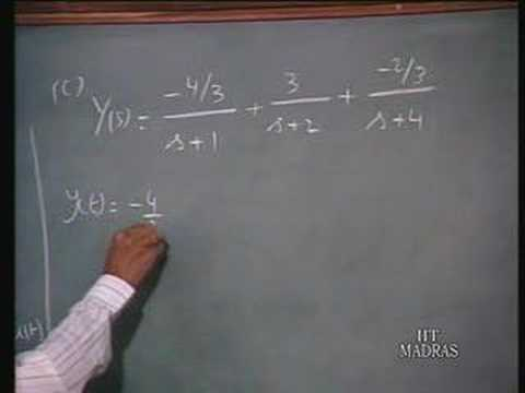 Lecture - 29 Application of Laplace Transforms (4)