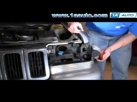 How to Install Replace Side Marker light signal Jeep Grand Cherokee 93-98 1AAuto.com