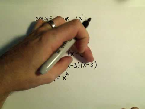 Solving an Equation Involving a Single Radical (Square Root) - Example 3