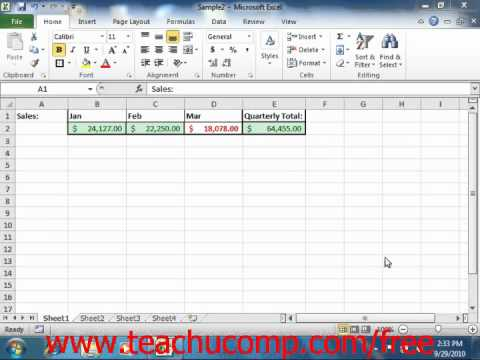 Excel 2010 Tutorial Finding Cells with Conditional Formulas Microsoft Training Lesson 14.2