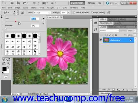 Photoshop CS5 Tutorial The Smudge Tool Adobe Training Lesson 14.6