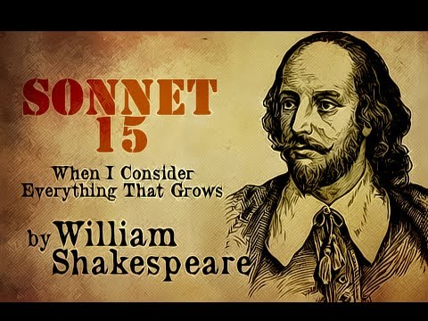 Pearls Of Wisdom - Sonnet 15 by William Shakespeare - Poetry Reading
