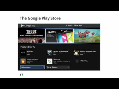 Google I/O 101:  Introduction to Google TV