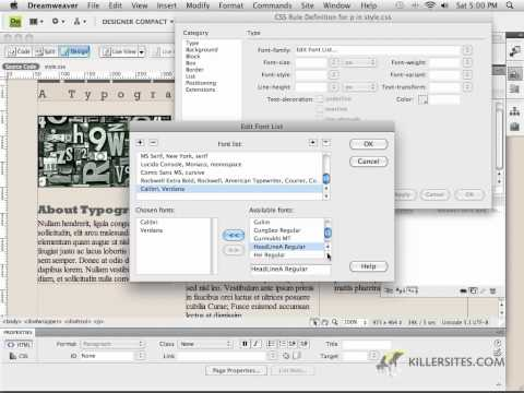 Photoshop for the Web - Paragraph Tags