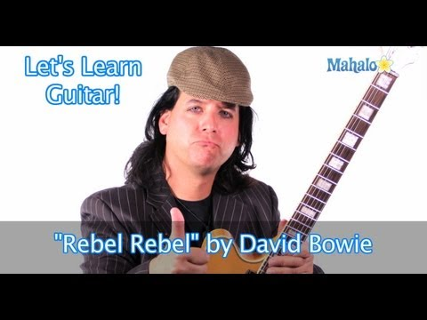 """Rebel Rebel"" by David Bowie Practice Cover on Guitar"