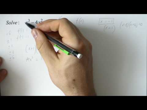 Solving cubics with comparing coefficients and polynomial long division cubic equations
