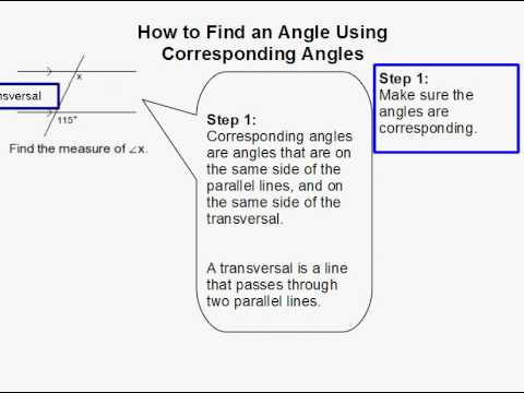 How to Find an Angle Using Corresponding Angles