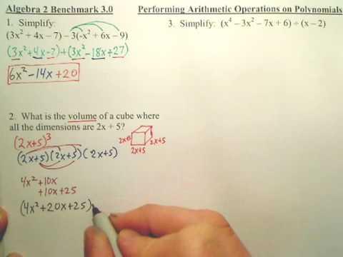 Benchmark 3 p1 - Algebra 2