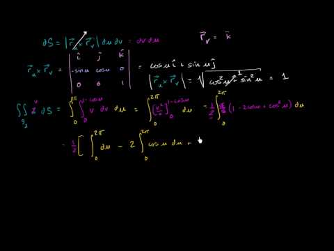 Surface Integral Ex3 part 2 - Evaluating the Outside Surface