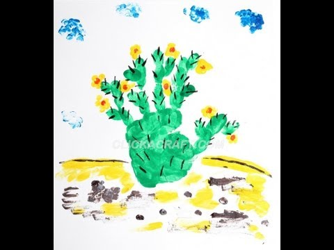Finger Painting Cacti Art | Cullen's Abc's