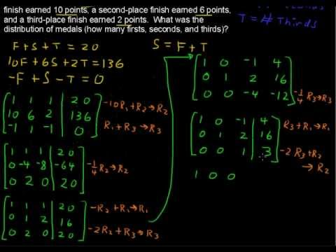Solving Applications Using Matrices - College Algebra Tips