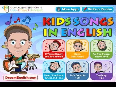 Head, Shoulders, Knees and Toes Kids Song in an App!
