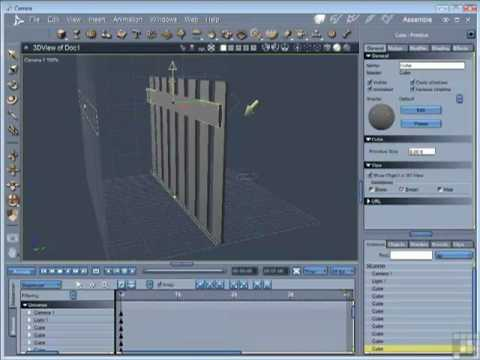 Carrara 8 Tutorial - Duplicating and Grouping Objects