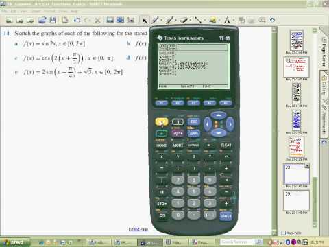 Using a TI89 calculator to sketch sin2x