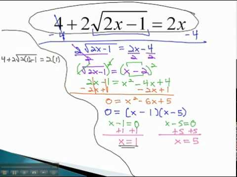 Equations with Radicals - Isolate Radical (part 1) - YouTube.mp4