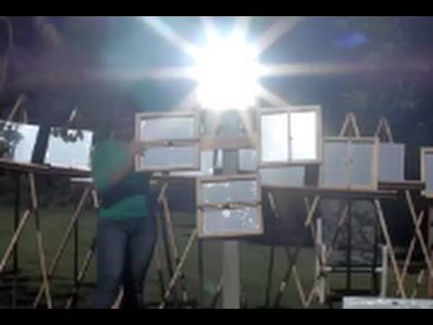 Archimedes Death Ray HEAT RAY Test Footage Day 2