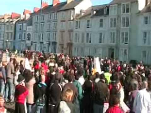 The Welsh Lady Fun Run Aberystwyth March 1st 2009