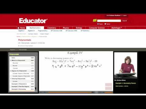 Algebra: Powers of Polynomials