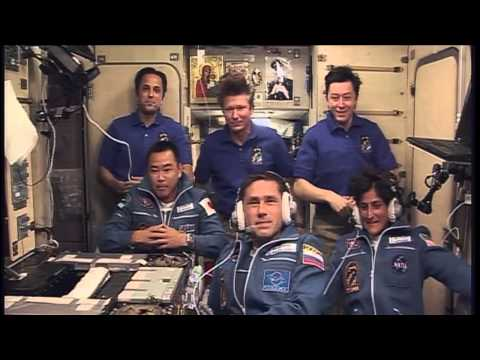 Warm Greetings for New ISS Residents