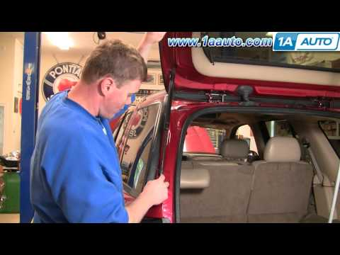 How To Install Replace Sagging Falling Hatch Support Struts Chevy Trailblazer 02-09 1AAuto.com