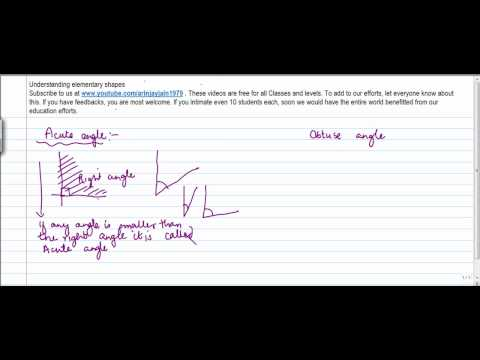 422.$ CBSE Class VI Maths,  ICSE Class VI Maths -   Acute and Obtuse Angle
