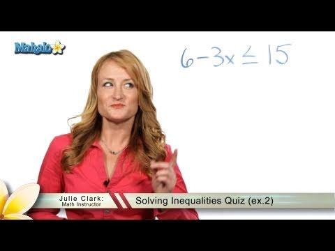 Solving Inequalities Quiz (ex.2)