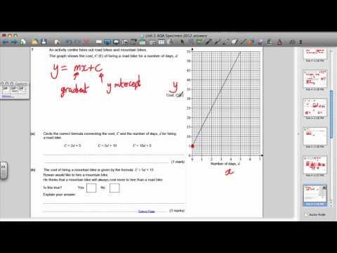 AQA Unit 2 Maths GCSE Specimen Paper (2 of 4)