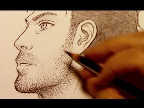 How to Draw Facial Hair (Razor Stubble)
