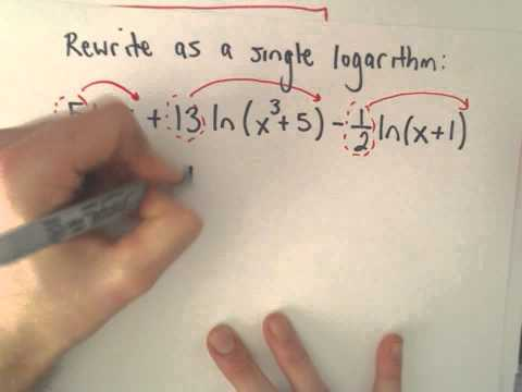 Logarithms : Expanding and Combining , Example 3