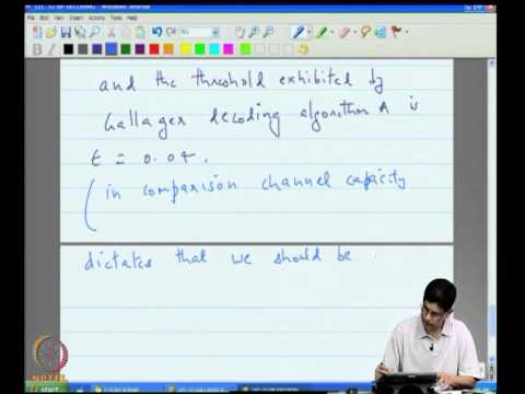 Mod-09 Lec-32 BP Decoding of LDPC Codes