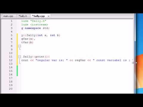 Buckys C++ Programming Tutorials - 45 - Member Initializers
