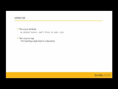 CSS: Examining the three ways to apply style | lynda.com