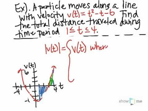 Learn about how to solve total distance traveled with fundamental calculus theorem