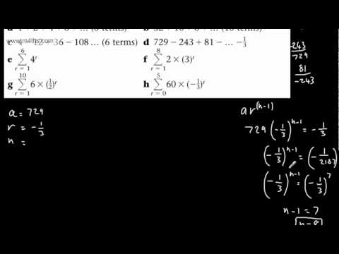 (2) C2 Geometric Series (Using the formula for basic examples)