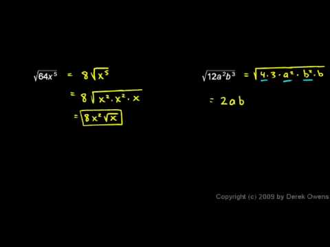 Algebra Review 7.5 - Roots and Radicals