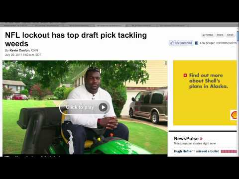 NFL Player Has to Mow Lawns