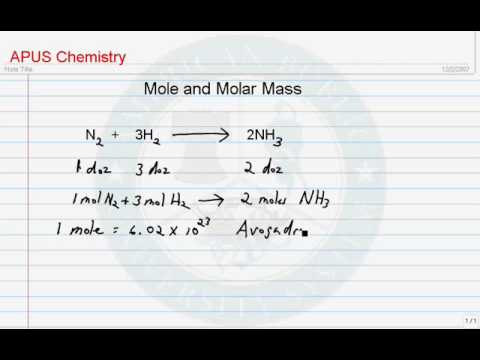 Mole and Molar Mass