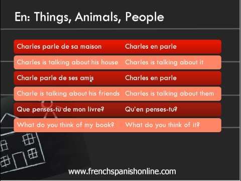En vs Y in French