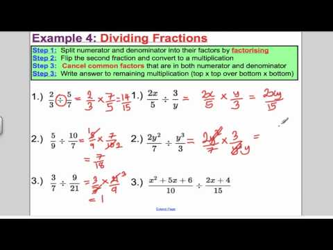 Algebraic Fractions - Arithmetic (L2) Core 3 Edexcel A-Level