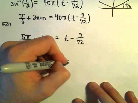 Solving Word Problems Involving Trigonometric Equations, Example 2