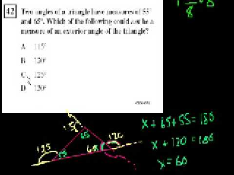 CA Geometry: Exterior Angles